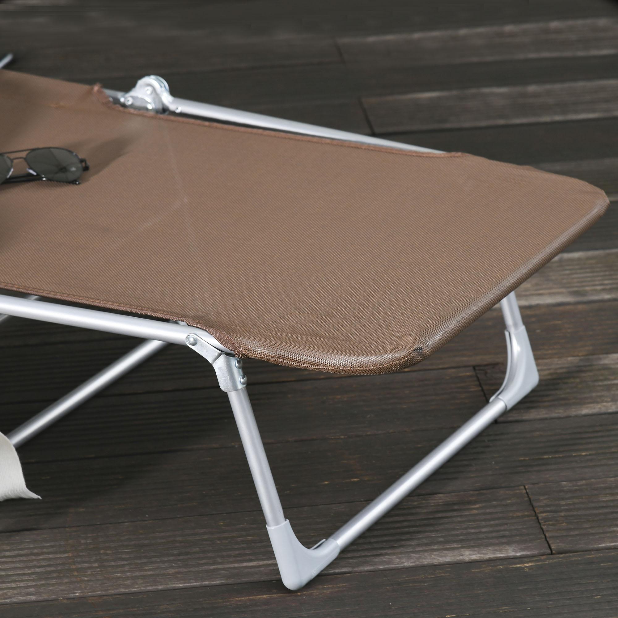 miniatura 16 - Tumbona Plegable y Reclinable con Reposacabezas y Respaldo Ajustable COLOR