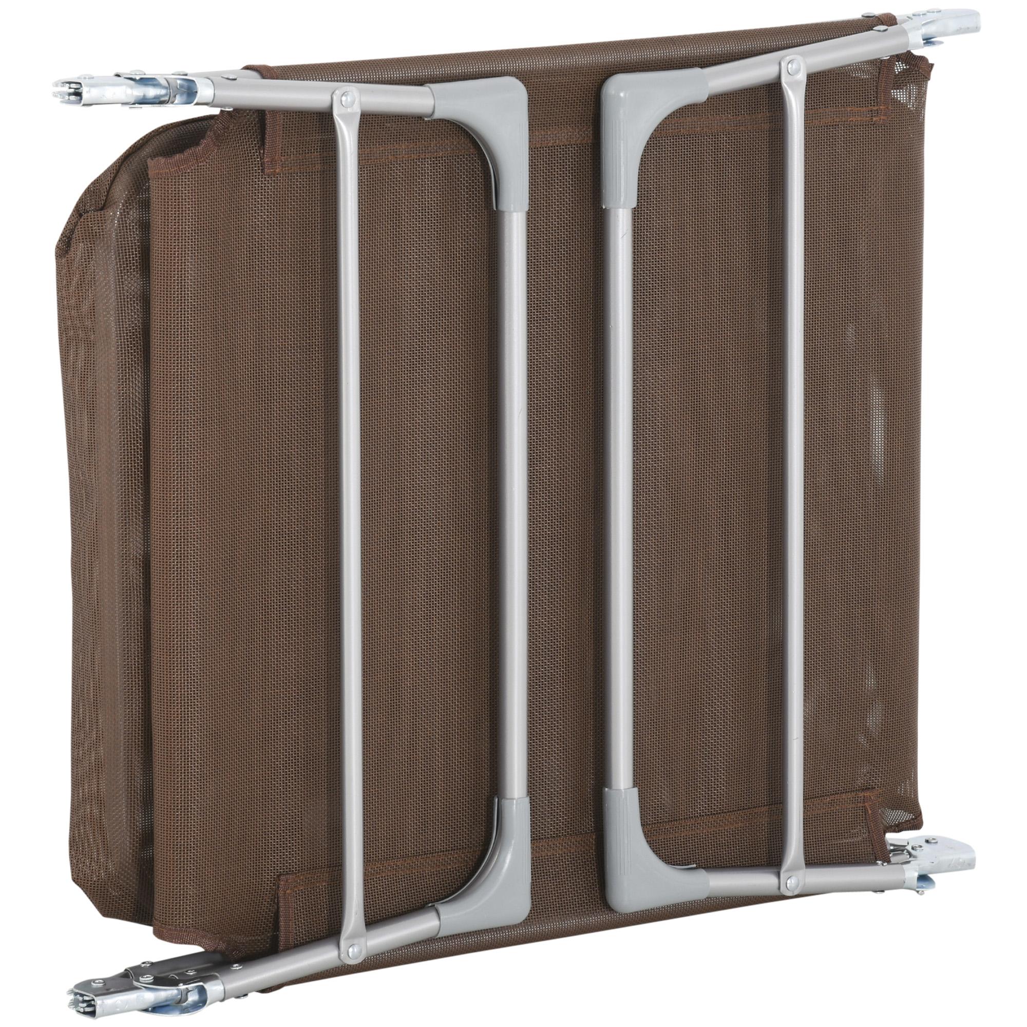 miniatura 19 - Tumbona Plegable y Reclinable con Reposacabezas y Respaldo Ajustable COLOR