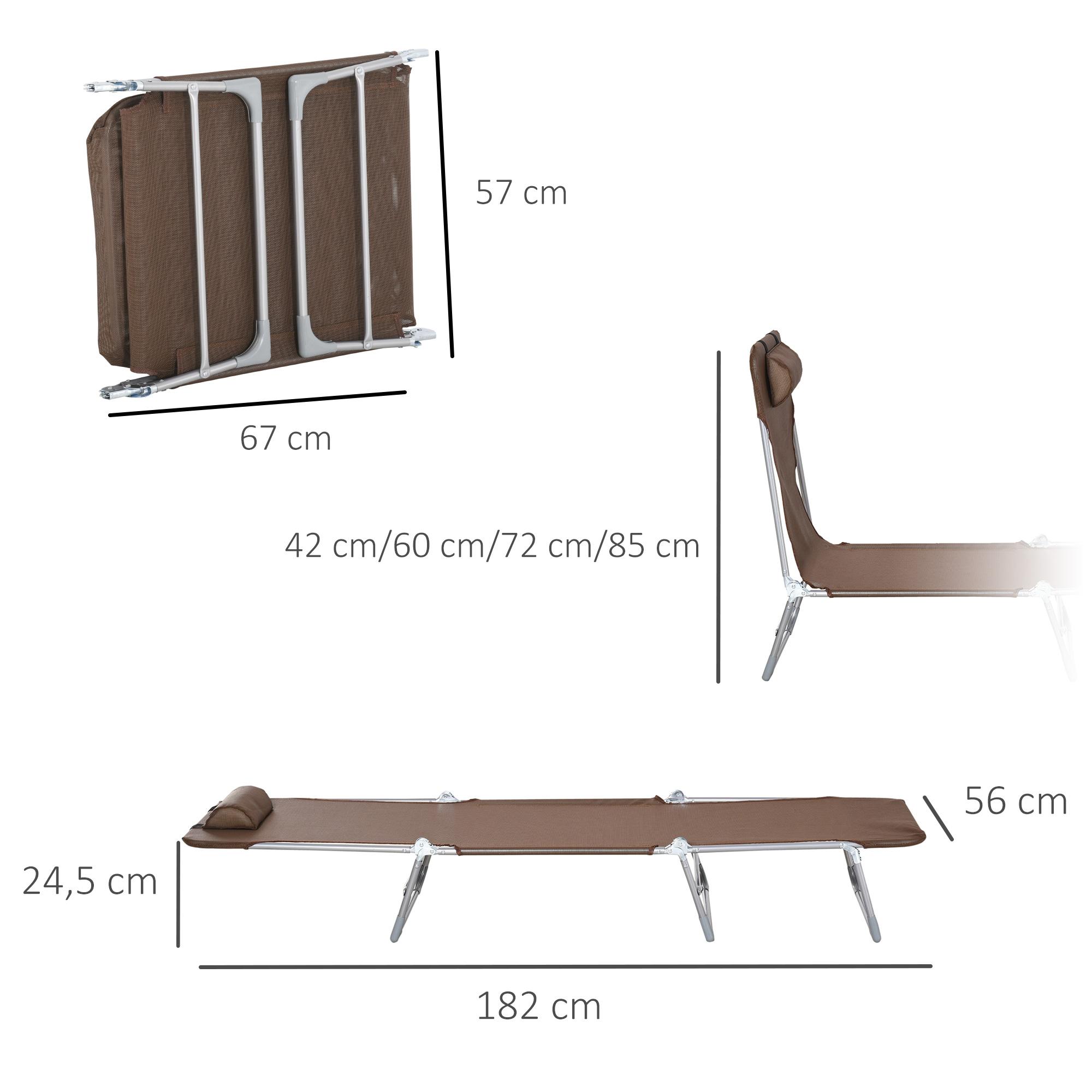 miniatura 18 - Tumbona Plegable y Reclinable con Reposacabezas y Respaldo Ajustable COLOR