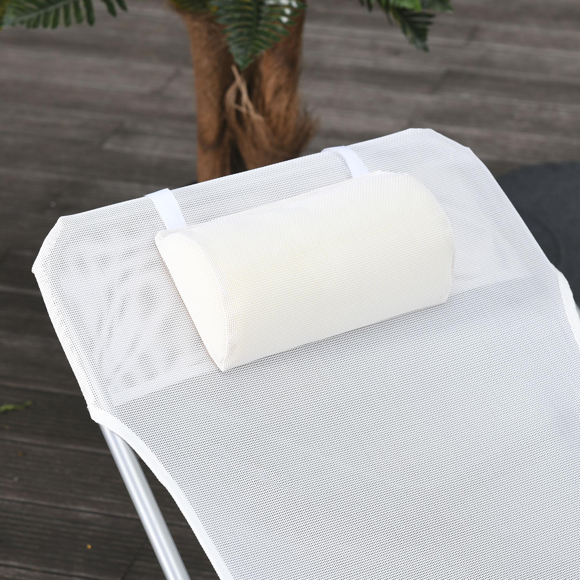 miniatura 6 - Tumbona Plegable y Reclinable con Reposacabezas y Respaldo Ajustable COLOR