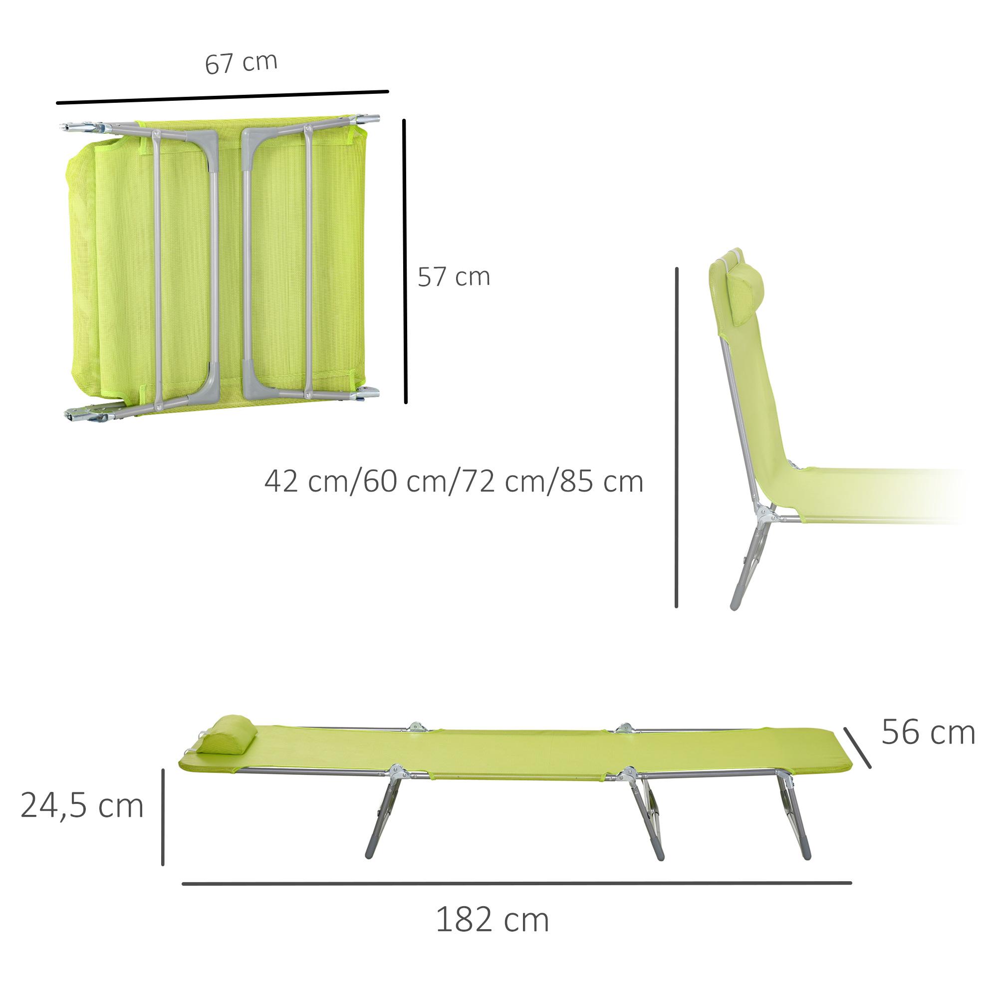 miniatura 34 - Tumbona Plegable y Reclinable con Reposacabezas y Respaldo Ajustable COLOR