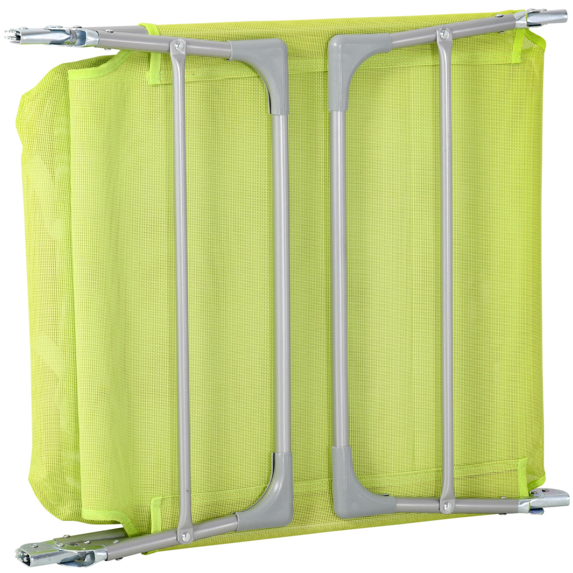 miniatura 30 - Tumbona Plegable y Reclinable con Reposacabezas y Respaldo Ajustable COLOR
