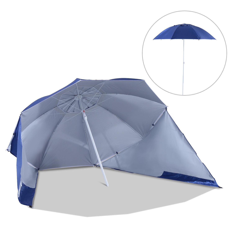 Sombrilla-de-Playa-Portatil-con-Paravientos-Tienda-Camping-Parasol-Proteccion-UV miniatura 3