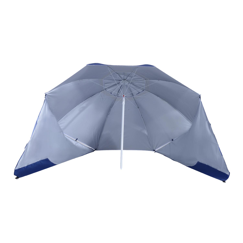 Sombrilla-de-Playa-Portatil-con-Paravientos-Tienda-Camping-Parasol-Proteccion-UV miniatura 13