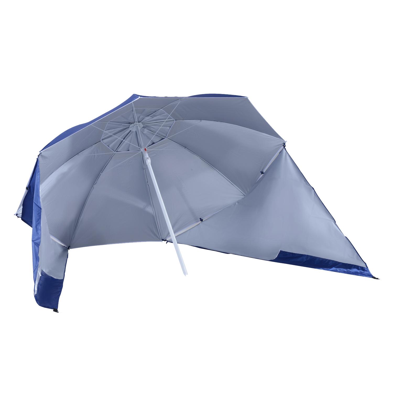 Sombrilla-de-Playa-Portatil-con-Paravientos-Tienda-Camping-Parasol-Proteccion-UV miniatura 11