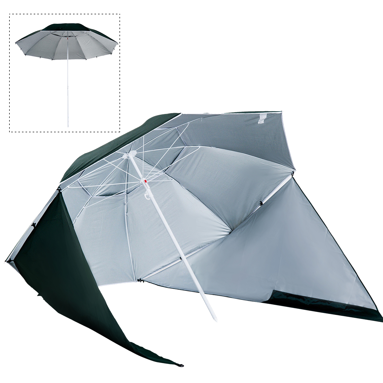 Sombrilla-de-Playa-Portatil-con-Paravientos-Tienda-Camping-Parasol-Proteccion-UV miniatura 15