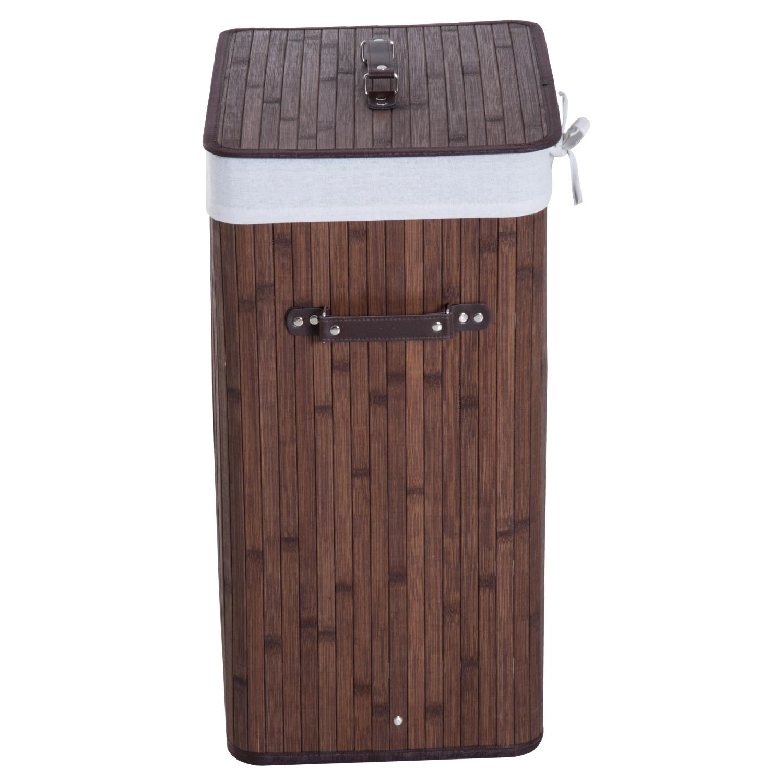 Cesto-para-Ropa-Sucia-Plegable-con-Tapa-Cubo-para-Colada-Rectangular-Bambu-70L miniatura 24
