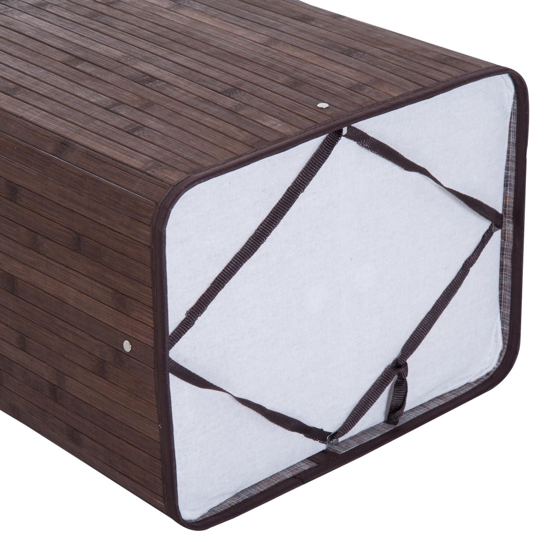 Cesto-para-Ropa-Sucia-Plegable-con-Tapa-Cubo-para-Colada-Rectangular-Bambu-70L miniatura 22