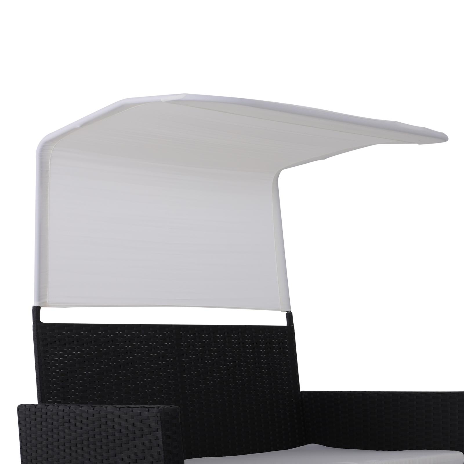Sofa-de-Ratan-Dos-Plazas-Sillon-Mueble-Jardin-Terraza-con-Reposapies-Toldo-Cojin miniatura 16
