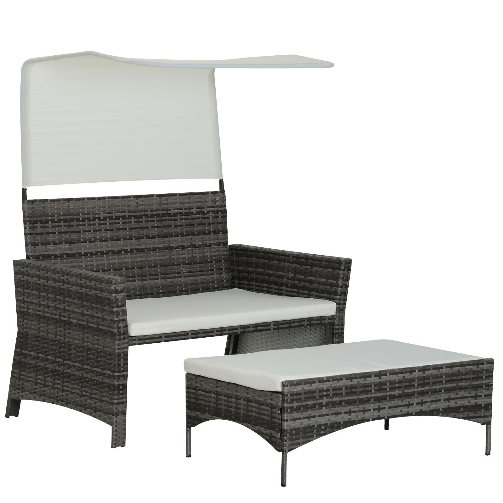 Sofa-de-Ratan-Dos-Plazas-Sillon-Mueble-Jardin-Terraza-con-Reposapies-Toldo-Cojin miniatura 3