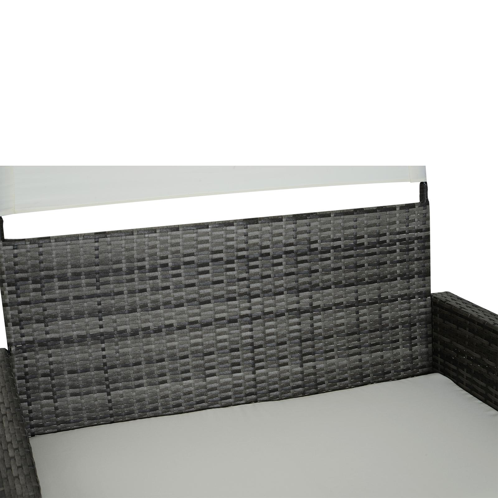 Sofa-de-Ratan-Dos-Plazas-Sillon-Mueble-Jardin-Terraza-con-Reposapies-Toldo-Cojin miniatura 10