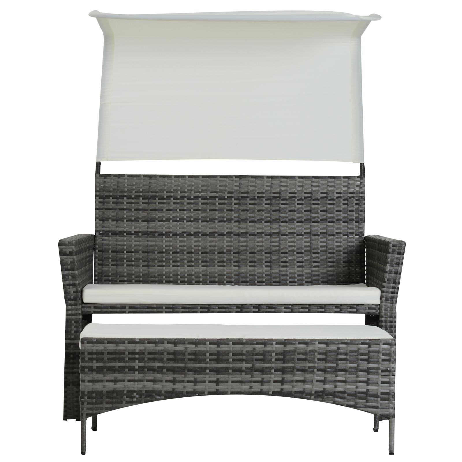 Sofa-de-Ratan-Dos-Plazas-Sillon-Mueble-Jardin-Terraza-con-Reposapies-Toldo-Cojin miniatura 11