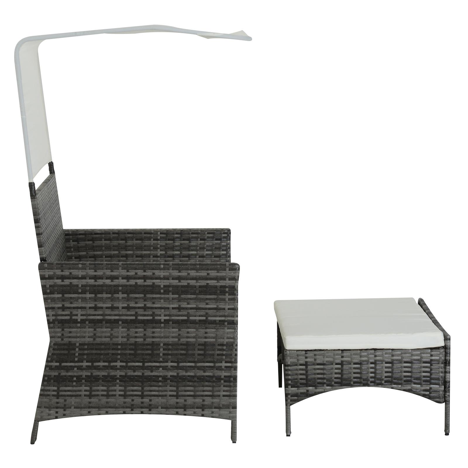 Sofa-de-Ratan-Dos-Plazas-Sillon-Mueble-Jardin-Terraza-con-Reposapies-Toldo-Cojin miniatura 12