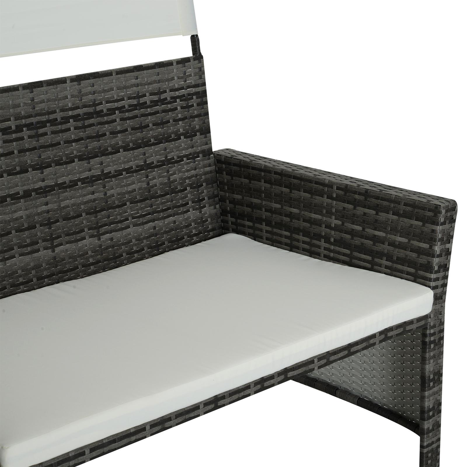 Sofa-de-Ratan-Dos-Plazas-Sillon-Mueble-Jardin-Terraza-con-Reposapies-Toldo-Cojin miniatura 5