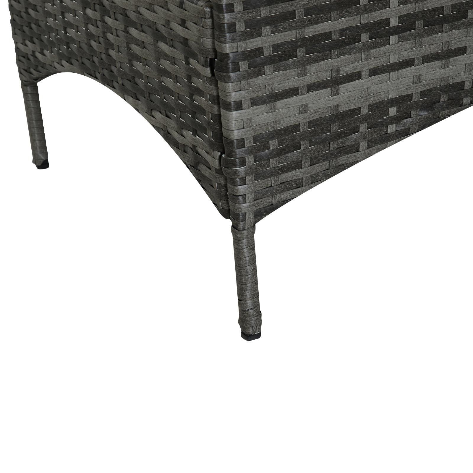 Sofa-de-Ratan-Dos-Plazas-Sillon-Mueble-Jardin-Terraza-con-Reposapies-Toldo-Cojin miniatura 9