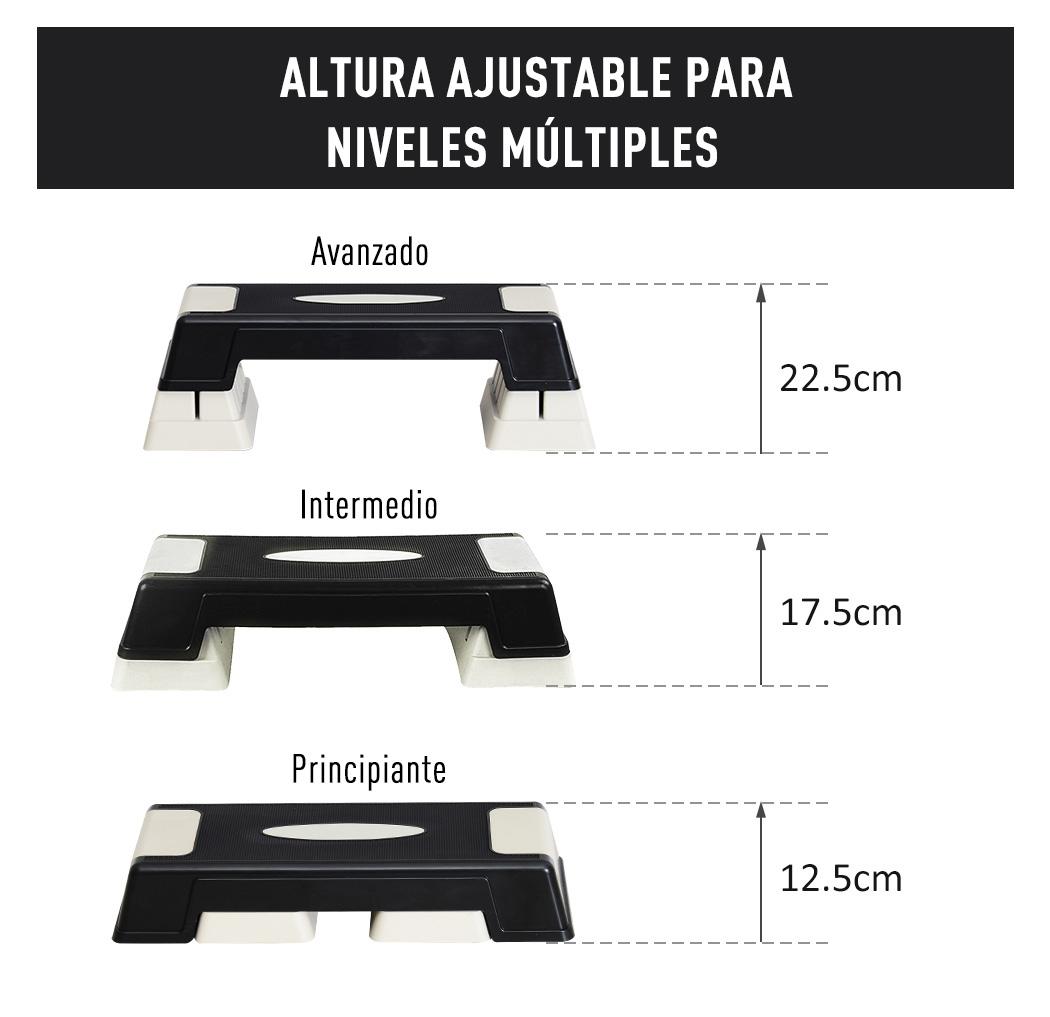 Step-Fitness-Tabla-Stepper-Aerobic-Deporte-Gimnasia-Altura-Regulable-3-Tipos-NUE miniatura 29