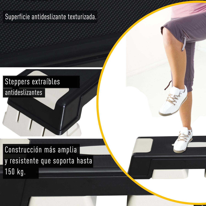 Step-Fitness-Tabla-Stepper-Aerobic-Deporte-Gimnasia-Altura-Regulable-3-Tipos-NUE miniatura 30