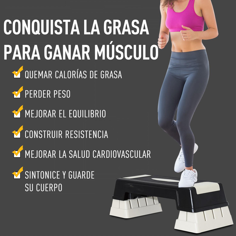 Step-Fitness-Tabla-Stepper-Aerobic-Deporte-Gimnasia-Altura-Regulable-3-Tipos-NUE miniatura 28
