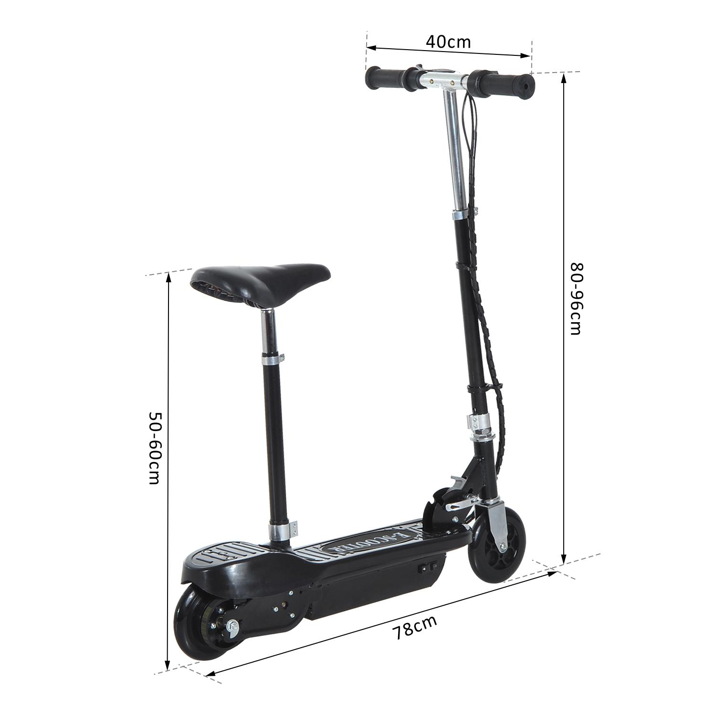 Patinete-Electrico-Plegable-E-Scooter-Bateria-120W-Manillar-Asiento-Ajustable miniatura 20