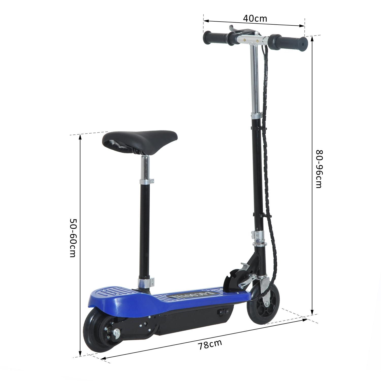 Patinete-Electrico-Plegable-E-Scooter-Bateria-120W-Manillar-Asiento-Ajustable miniatura 8