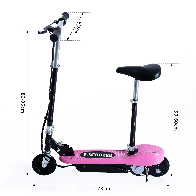 Patinete-Electrico-Plegable-E-Scooter-Bateria-120W-Manillar-Asiento-Ajustable miniatura 43
