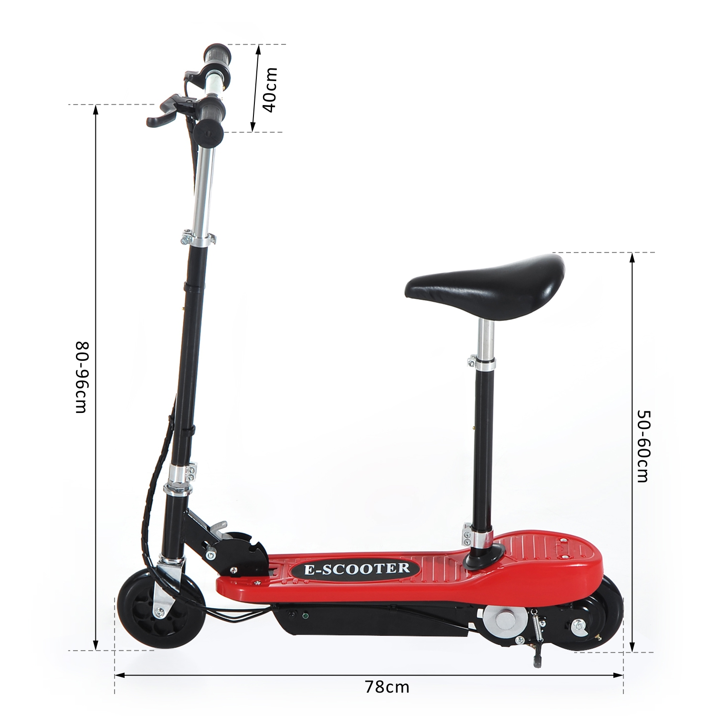 Patinete-Electrico-Plegable-E-Scooter-Bateria-120W-Manillar-Asiento-Ajustable miniatura 31