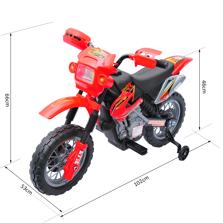 Moto-Electrica-Infantil-Bateria-Recargable-6V-Ninos-3-Anos-Cargador-Ruedas-Apoyo miniatura 20