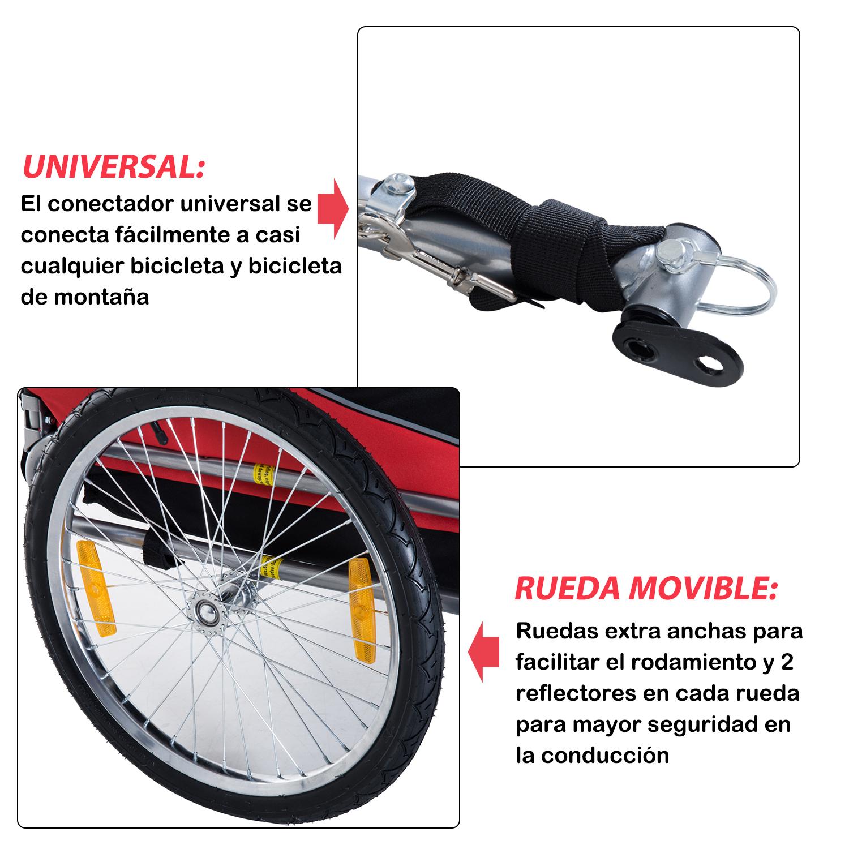 Remolque-Bicicleta-Perro-Mascota-1-Bandera-6-Reflectores-1-Barra-de-Traccion miniatura 11