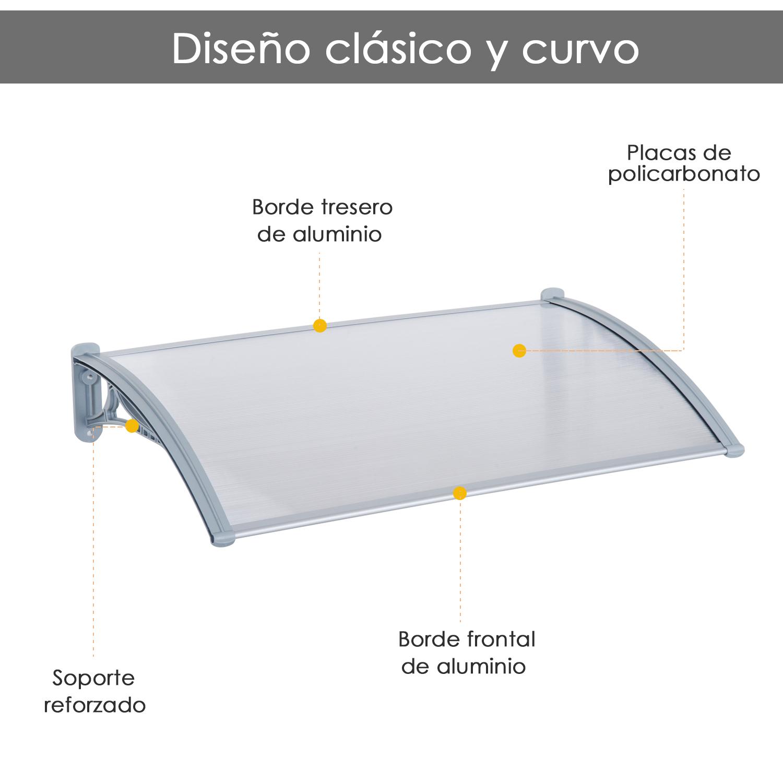 Details About Marquesina Techo Canopy Para Puertas Ventanas Toldo Dosel Terrazas 120 140cm