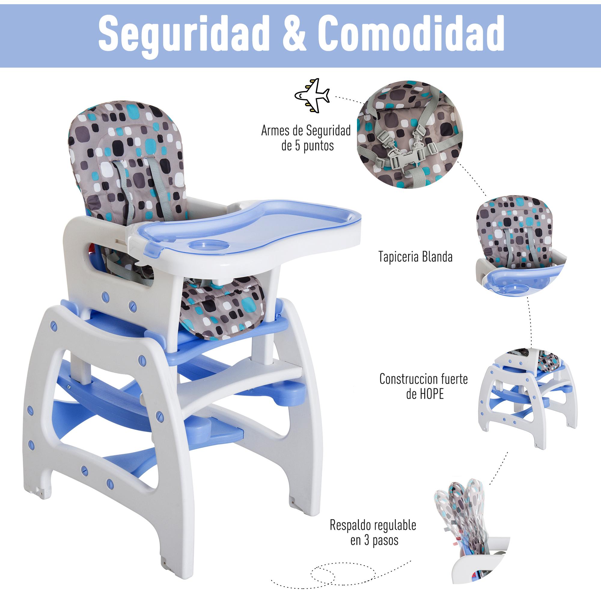 3-en-1-Sillita-Trona-Mecedora-Balancin-Bebe-Convertible-Multifuncional-Infantil miniatura 5