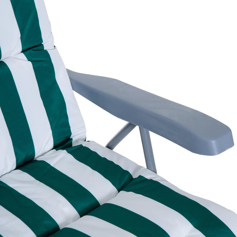 Tumbonas-2Pack-Acero-Plegable-Inclinable-Acolchado-Playa-Camping-Pack-2-Tumbonas miniatura 18