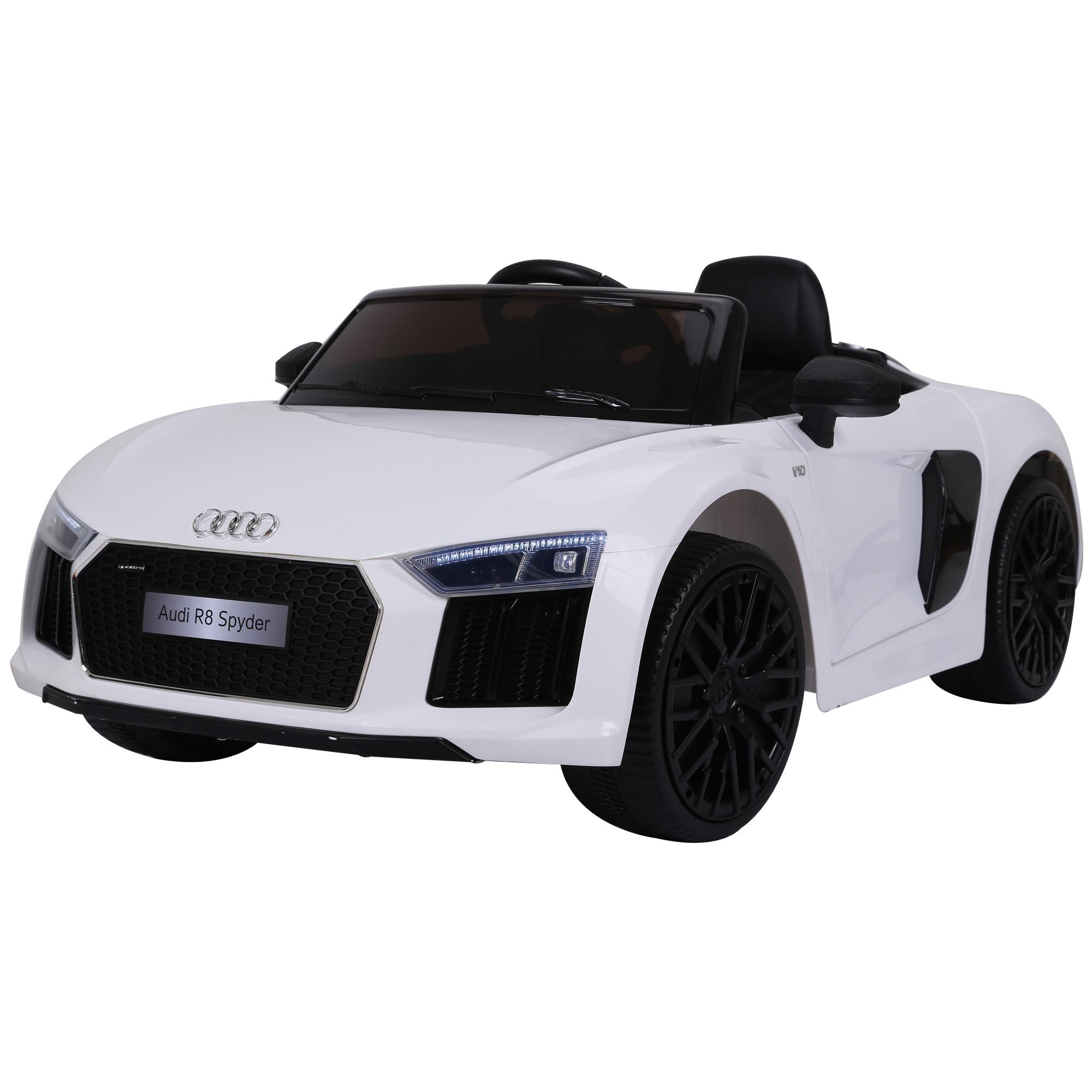 Coche-Electrico-para-Nino-3-8-Anos-Audi-R8-Bateria-12V-Control-Remoto-Carga-30kg miniatura 4