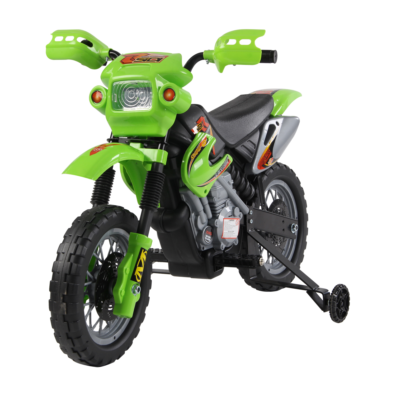 Moto-Electrica-Infantil-Bateria-Recargable-6V-Ninos-3-Anos-Cargador-Ruedas-Apoyo miniatura 3