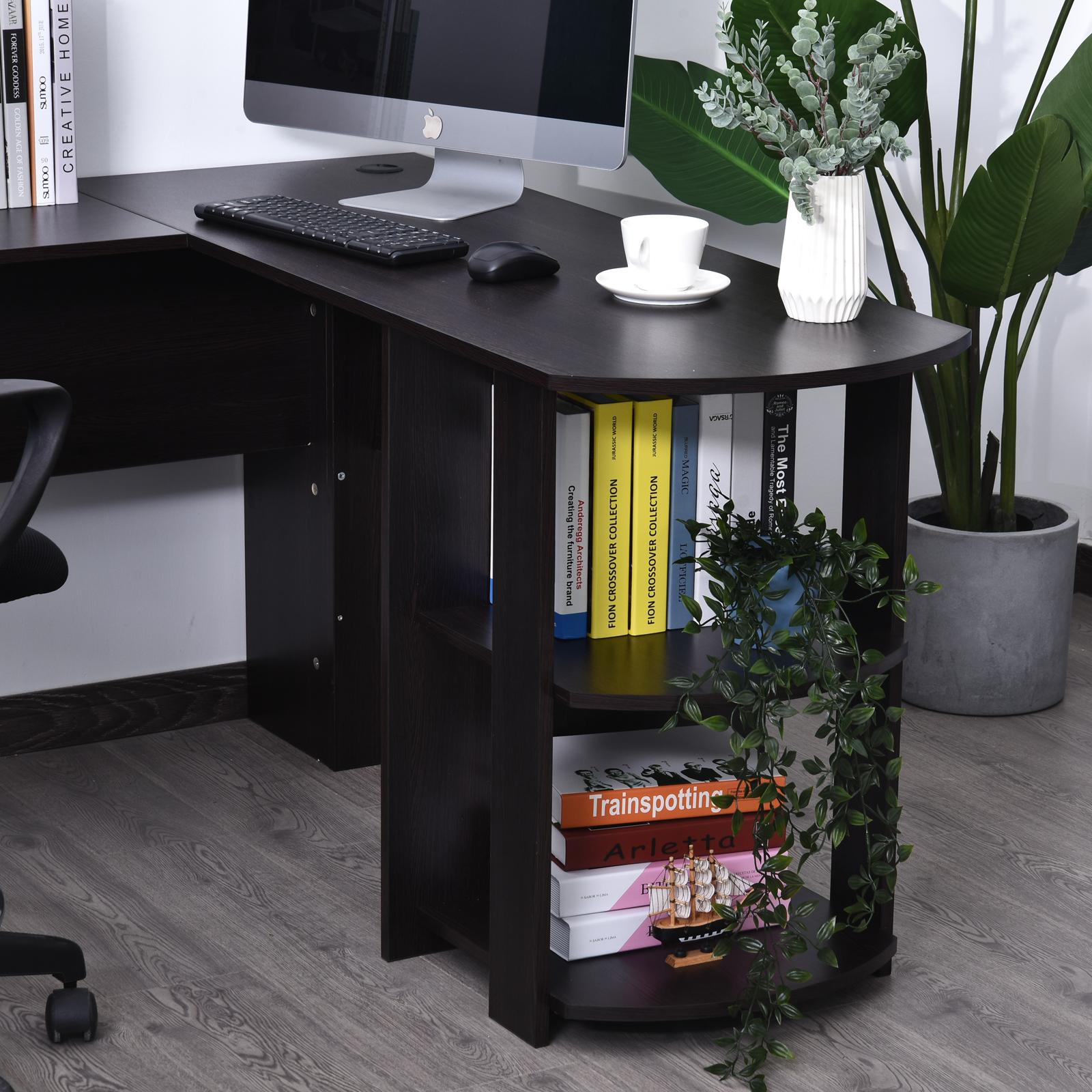 Mesa-de-Ordenador-PC-Escritorio-para-Oficina-Hogar-Esquinera-Forma-L-Madera miniatura 5