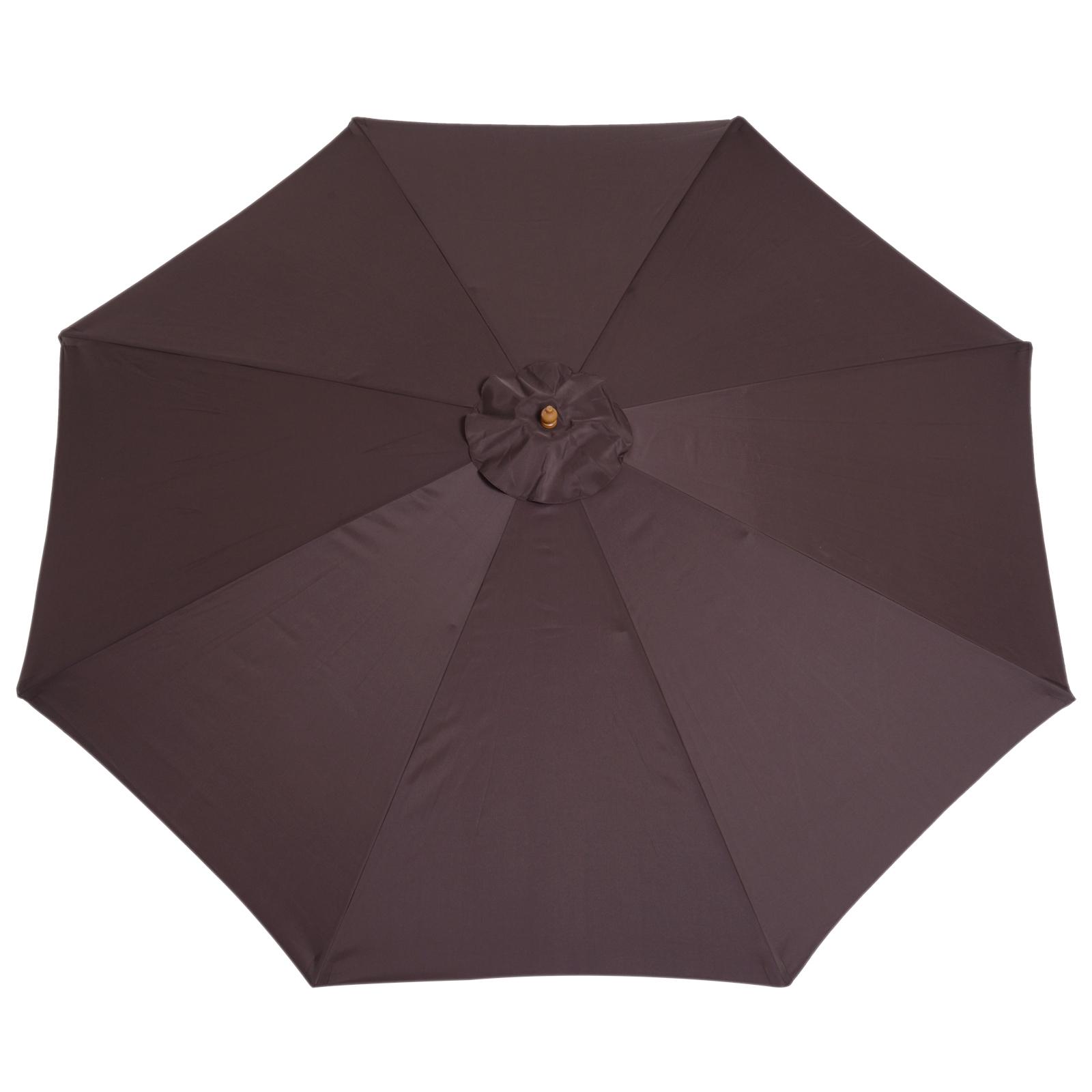 Outsunny-Parasol-Rond-3-x-2-5m-Jardin-Balcon-Bois-de-Bambou-8-entretoises miniature 5