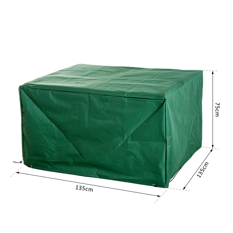 Outsunny housse de protection etanche pour meuble salon de - Housse salon jardin rectangulaire ...