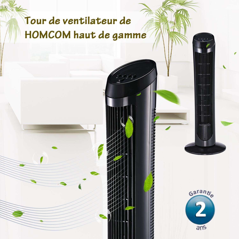 HOMCOM-Ventilateur-Colonne-Oscillant-Tour-Oscillant-Silencieux miniature 19