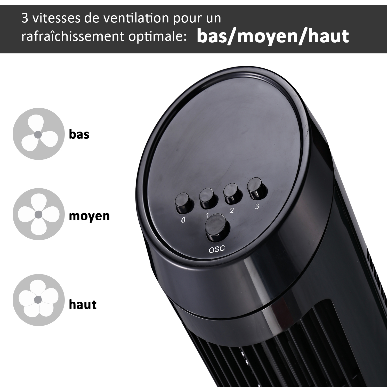 HOMCOM-Ventilateur-Colonne-Oscillant-Tour-Oscillant-Silencieux miniature 15