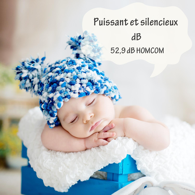 HOMCOM-Ventilateur-Colonne-Oscillant-Tour-Oscillant-Silencieux miniature 7
