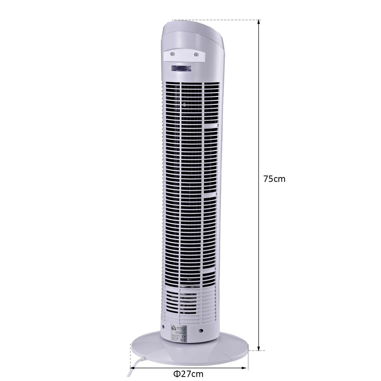 HOMCOM-Ventilateur-Colonne-Oscillant-Tour-Oscillant-Silencieux miniature 4