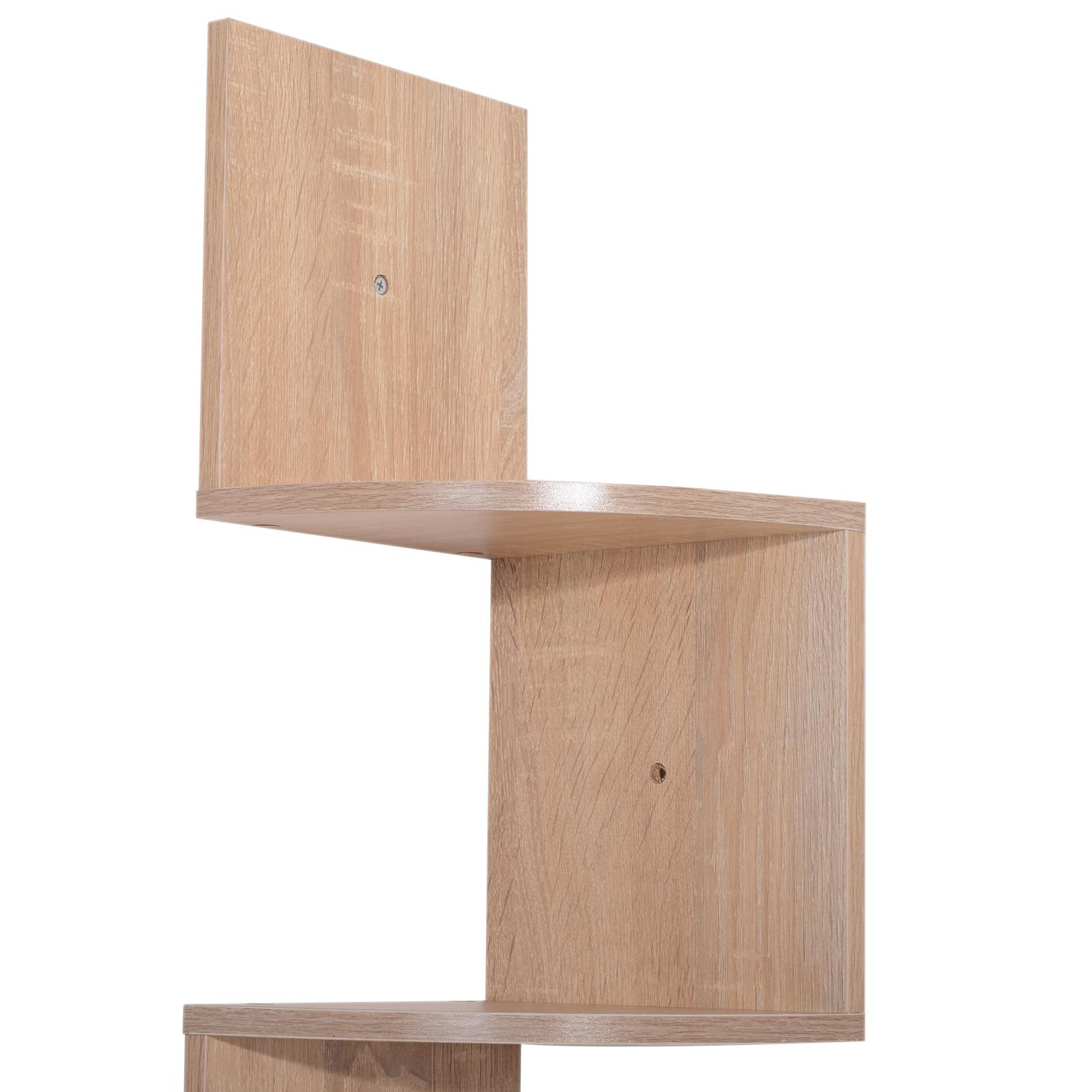 Etagere-d-Angle-Etagere-Murale-Zigzag-5-Niveaux-20-x-20-x-126-cm miniature 19