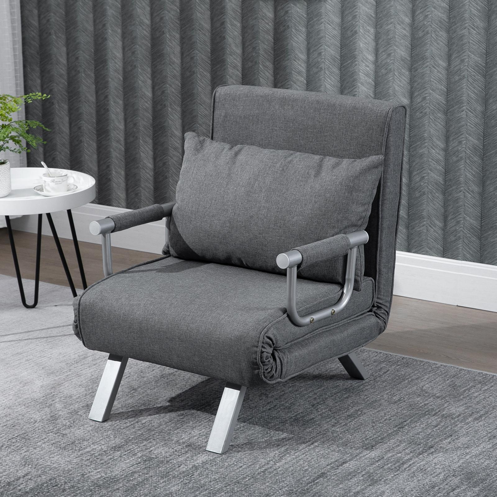 homcom fauteuil convertible canapé-lit convertible 1 place