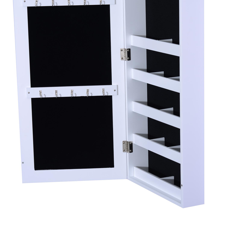 HOMCOM Armoire à Bijoux Mural Multi-Rangements Design avec Miroir ...