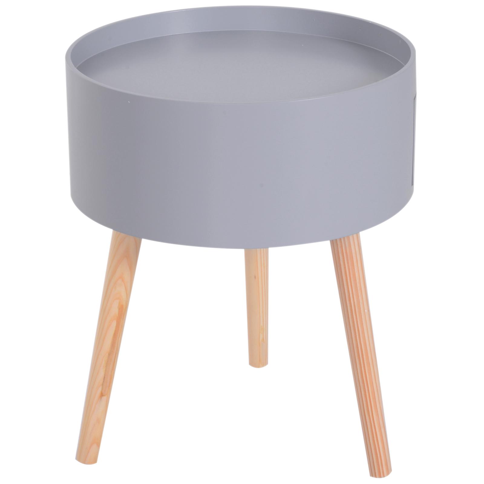 Table Basse Ronde Art Deco détails sur homcom table de chevet table basse table de nuit ronde style  scandinave