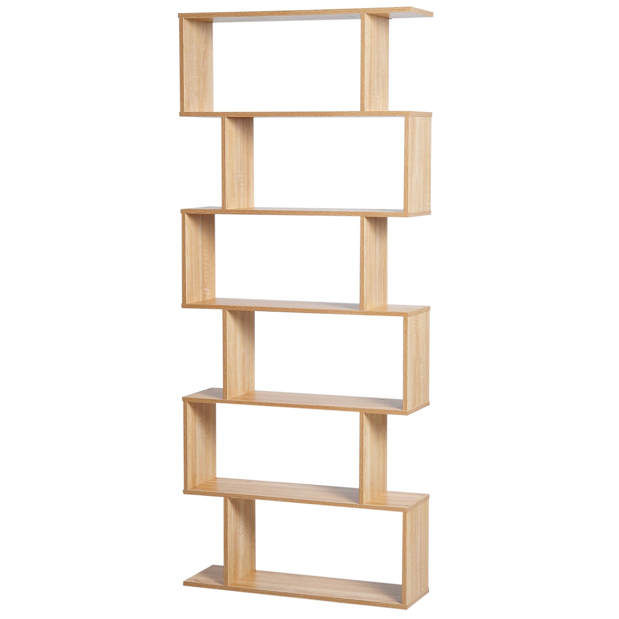 HOMCOM-Bibliotheque-Zig-Zag-Design-Contemporain-6-Niveaux-192-cm