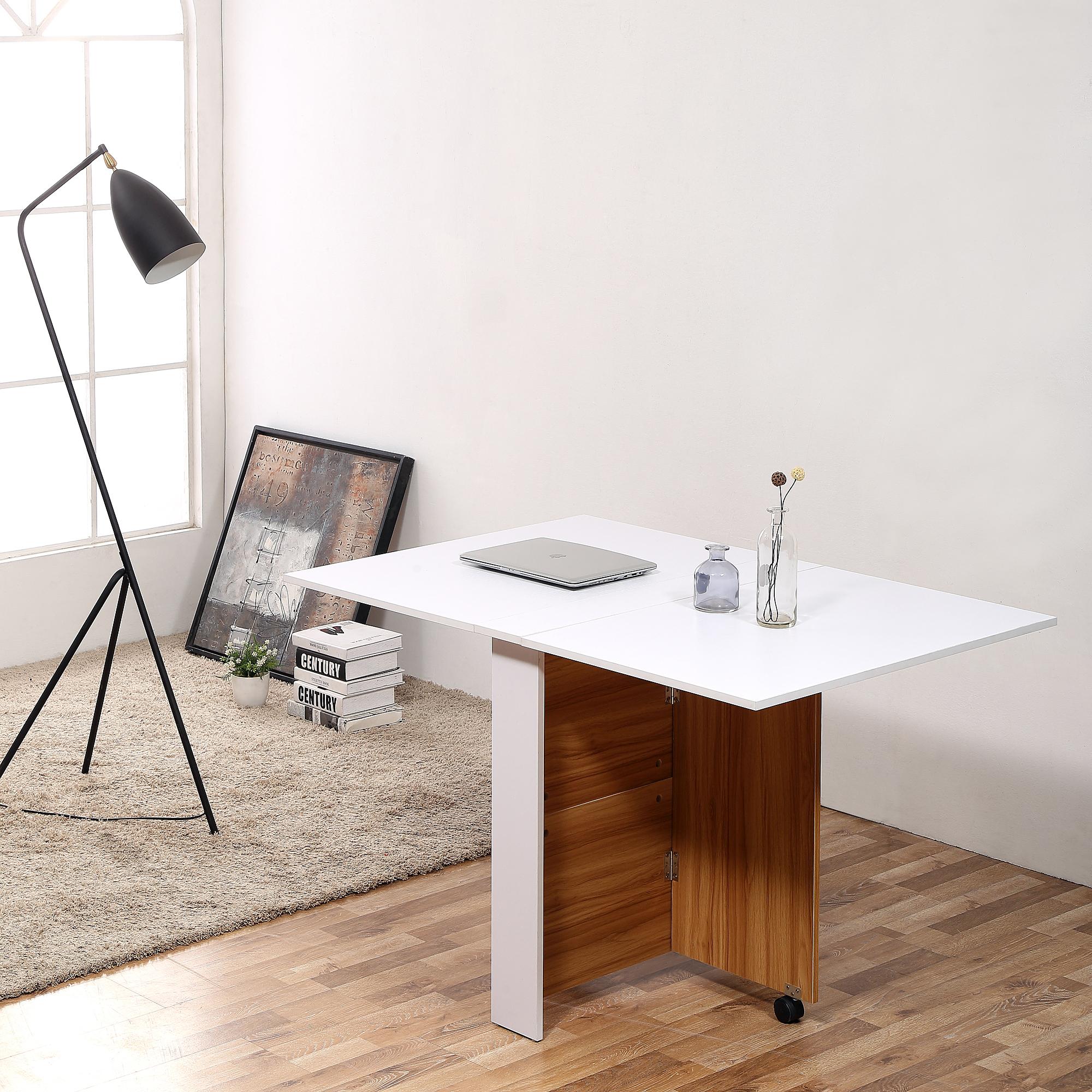 Table Rabattable Pour Cuisine détails sur homcom table de cuisine salle à manger table basse pliante  amovible 120x80x73cm
