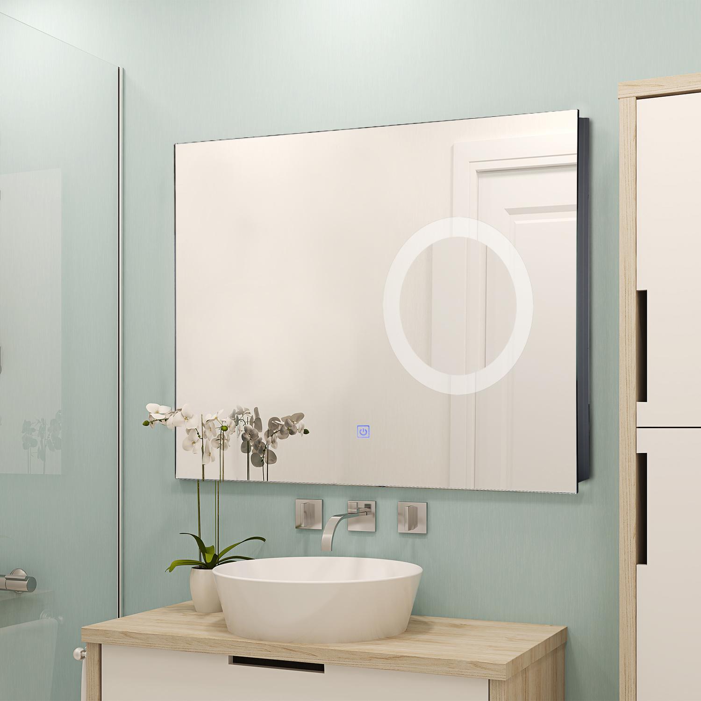 Détails sur HOMCOM Miroir lumineux LED grossissant de salle de bain 16 W  dim. 16 x 16 x 16 cm