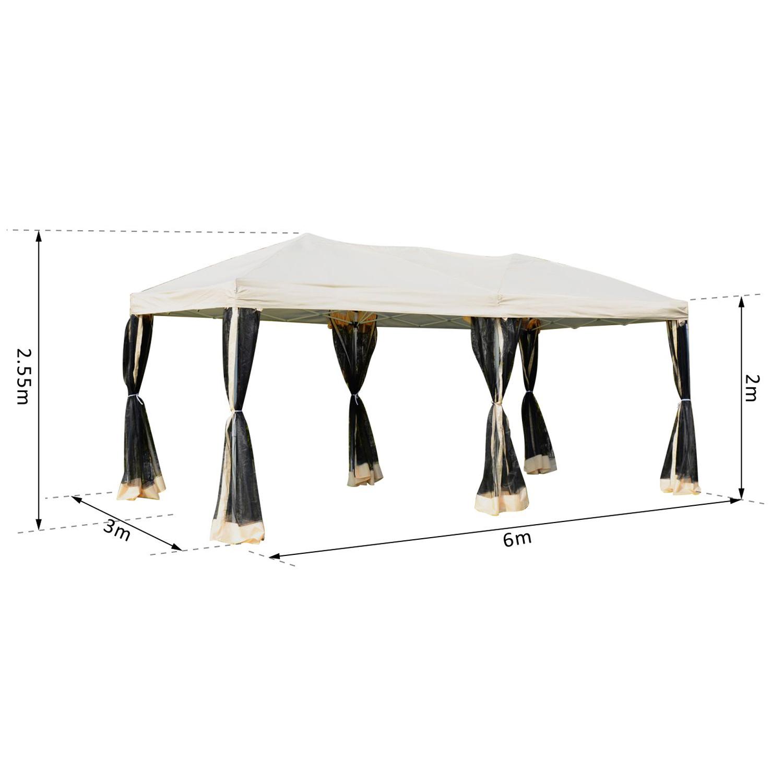Outsunny-Tonnelle-Barnum-Pliant-Style-Colonial-Impermeabilise-6-x-3-x-2-55-m miniature 4