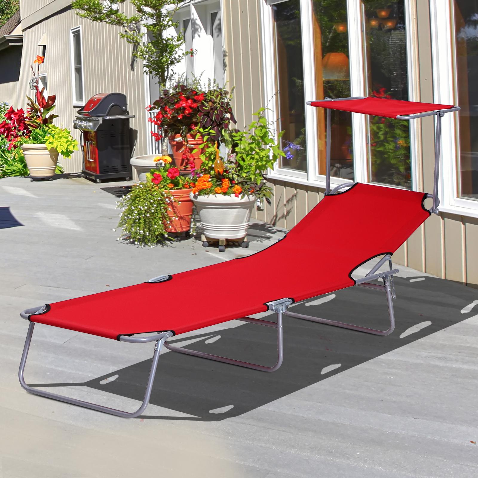 outsunny transat bain de soleil pliable dossier et pare. Black Bedroom Furniture Sets. Home Design Ideas