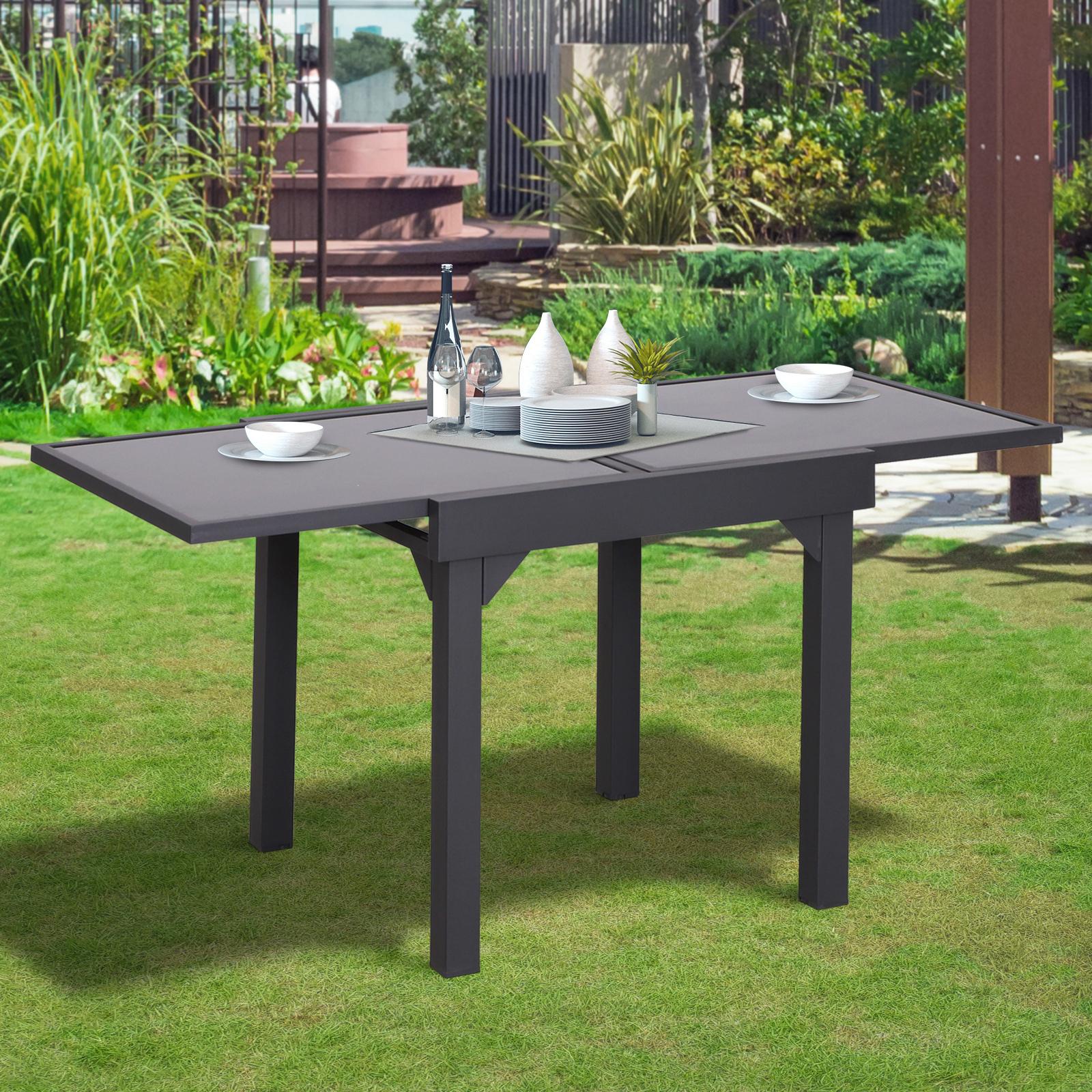 Outsunny Table de Jardin Aluminium Table Extensible avec Plateau en ...